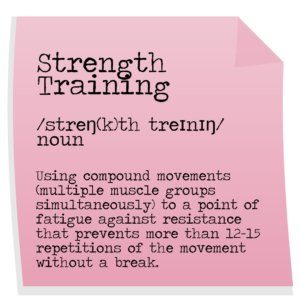 Strenth training exercise definition